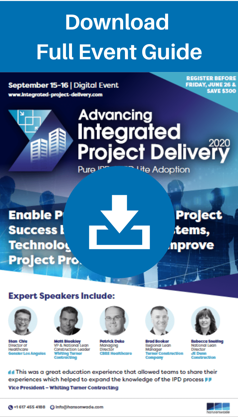 Advancing Integrated Project Delivery 2020 - Full Event Guide Widget